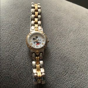 Mickey Mouse watch silver/gold
